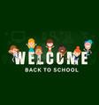 kids back to school banner background vector image vector image