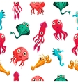 Kids seamless pattern with sea life vector image