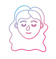 line woman head with closed eyes and hairstyle vector image vector image
