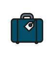 luggage icon on white background vector image vector image