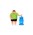 man hand throws garbage into a plastic bottle vector image vector image