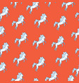 medieval seamless pattern with white horse vector image