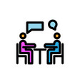 meeting filled line icon vector image