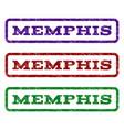 memphis watermark stamp vector image