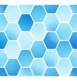 minimal simple blue watercolor hexagon block vector image