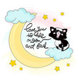 moon kitty color set vector image vector image