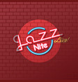 neon sign jazz night vector image