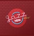 neon sign jazz night vector image