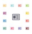 news flat icons set vector image vector image