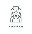 nurse sign line icon linear concept vector image vector image