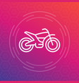 offroad bike motorcycle linear icon vector image
