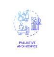 palliative and hospice concept icon vector image vector image