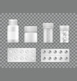 pharmacy and medicines means pills blisters vector image