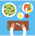 Prepare a Meal Top View Design Flat vector image vector image
