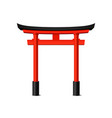 realistic detailed 3d japanese tori gate vector image