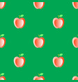 red fresh apple seamless pattern vector image vector image