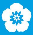 rose of sharon korean flower icon white vector image vector image
