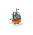 sailing ship retro transport marine background vector image vector image