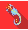 Scorpius constellation icon flat style
