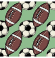 seamless background with football balls vector image vector image