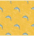 seamless pattern dolphin background vector image vector image