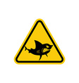 Sign of attention to sharks Yellow warning sign vector image vector image