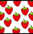 strawberries pattern fresh fruit drawing icon vector image