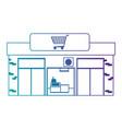 supermarket building front icon vector image
