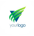 triangle loop business logo vector image vector image
