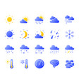 weather simple gradient icons set vector image