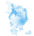 broken polygonal wireframe sphere geometric vector image