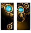 Two Banners with Gears vector image