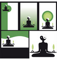 business cards yoga vector image