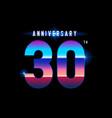 30 years anniversary celebration logotype vector image