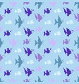 a seamless pattern of fish vector image