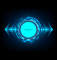 abstract technology blue circle light beam vector image