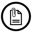 Attach Document Rounded Grainy Icon vector image vector image
