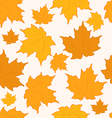 Autumnal maple leaves seamless background vector image vector image