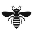 bee icon simple style vector image vector image
