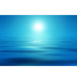 blue sea and sun vector image vector image