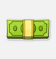 bundle paper money vector image