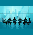 business people having a meeting in executive vector image vector image