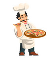 cartoon cheerful chef cook showing vector image