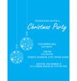 Christmas Ball invitation vector image vector image