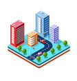 colorful 3d isometric vector image vector image