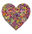 colorful heart on white background vector image vector image