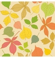 Colorful seamless pattern with hand-drawn leaves vector image vector image