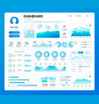 dashboard infographics on profile of person user vector image
