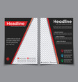 design flyers a4 black with red elements vector image vector image