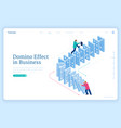 domino effect in business chain reaction vector image